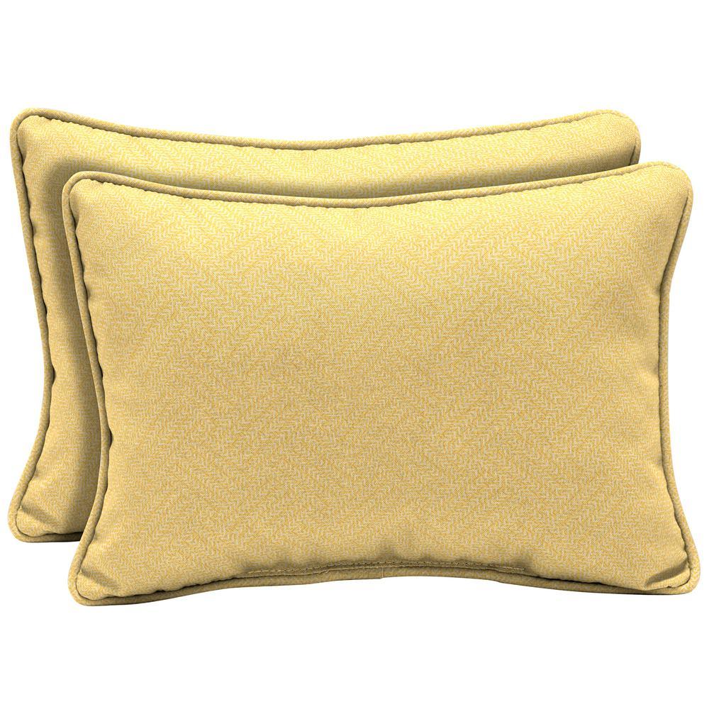Shirt Texture Oversized Lumbar Outdoor Throw Pillow (2-Pack)