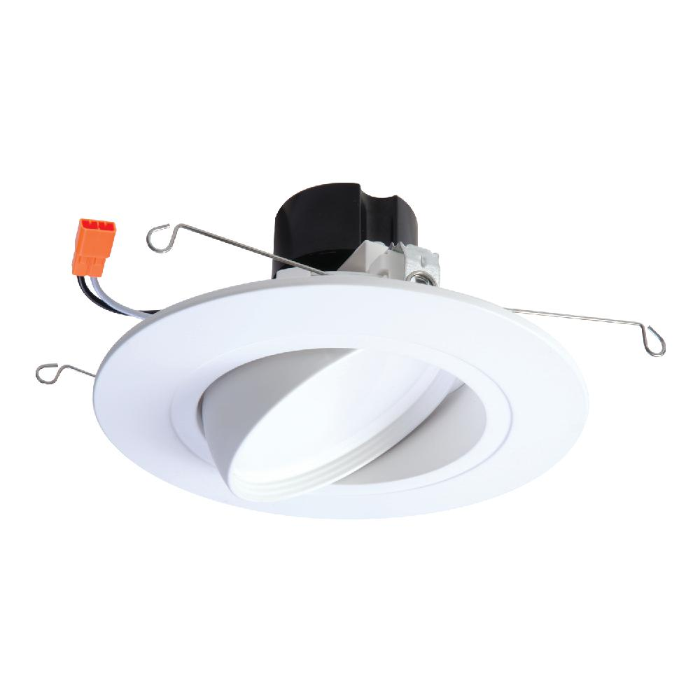 Matte White Recessed LED 80 CRI 4000K Cool White and 6 in QTY 4 Halo 5 in