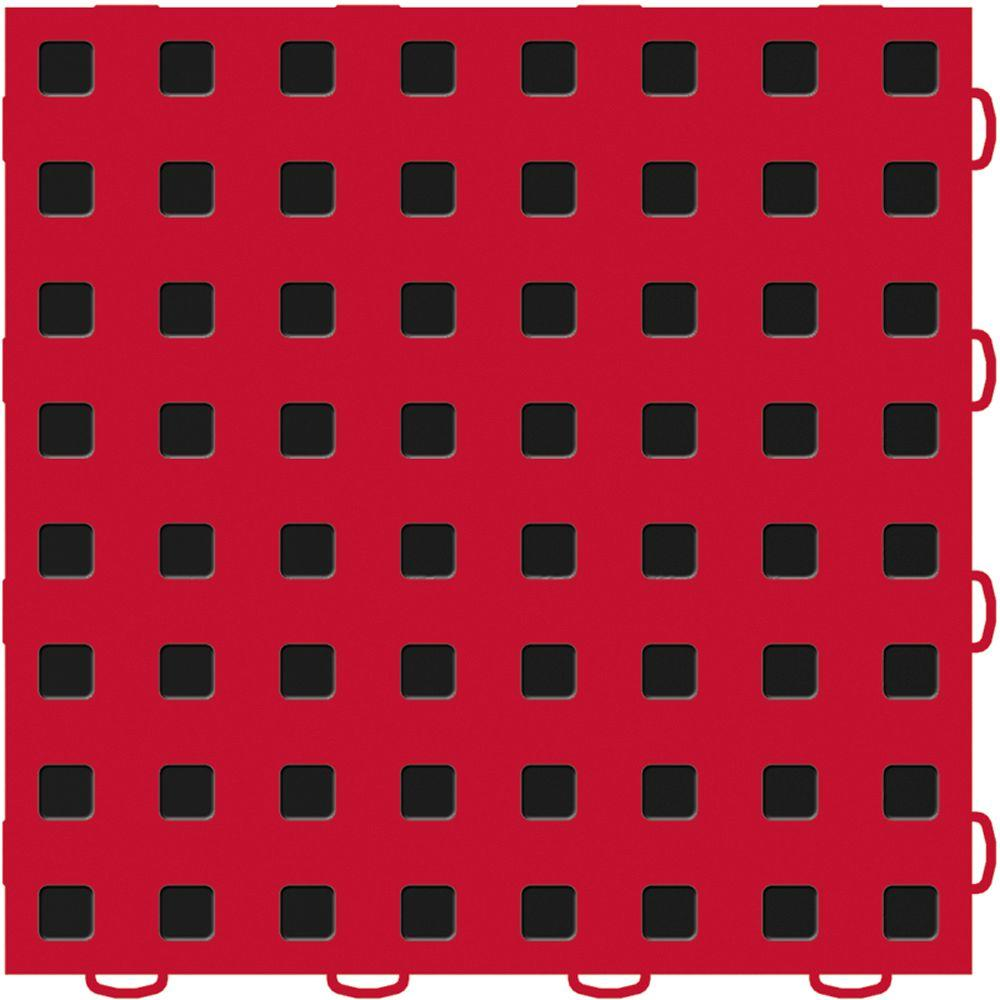 Weathertech techfloor 12 in x 12 in redblack vinyl flooring weathertech techfloor 12 in x 12 in redblack vinyl flooring tiles dailygadgetfo Choice Image