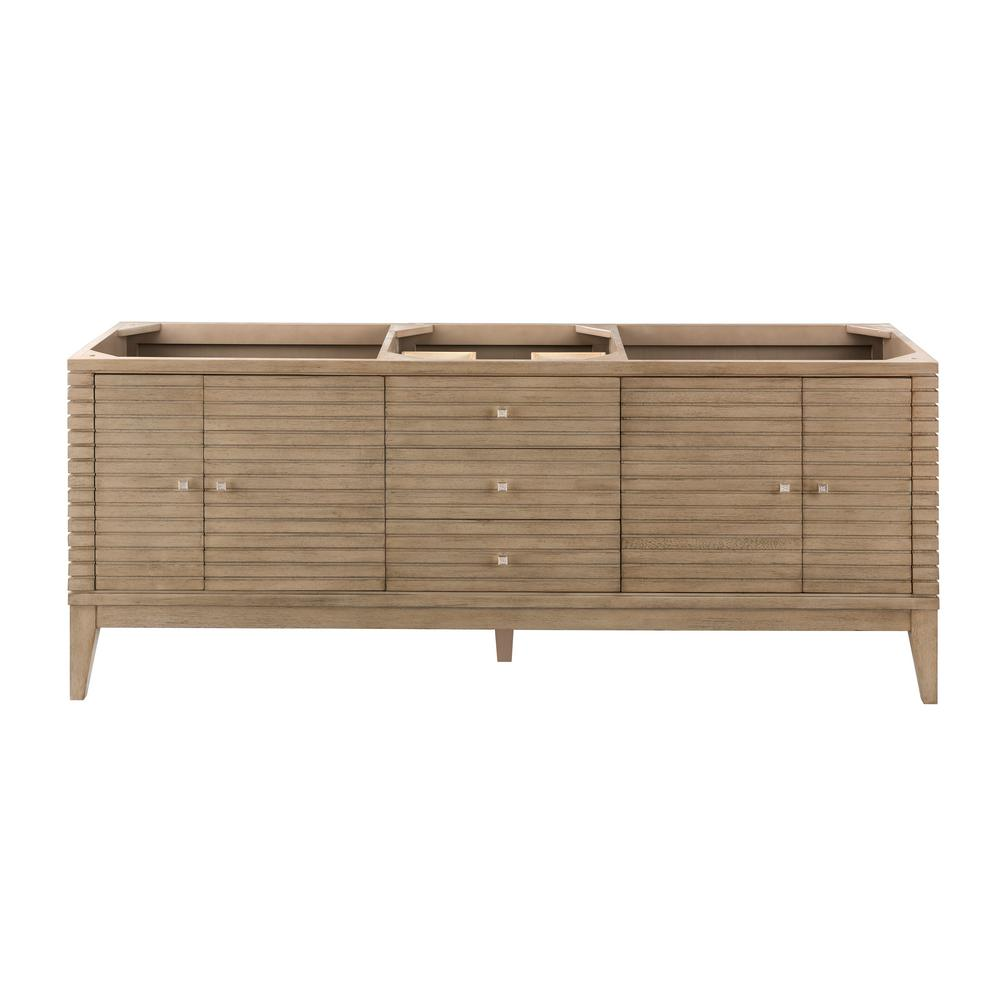 James Martin Vanities Linear Single Bath Vanity Cabinet Only Washed Walnut 4322