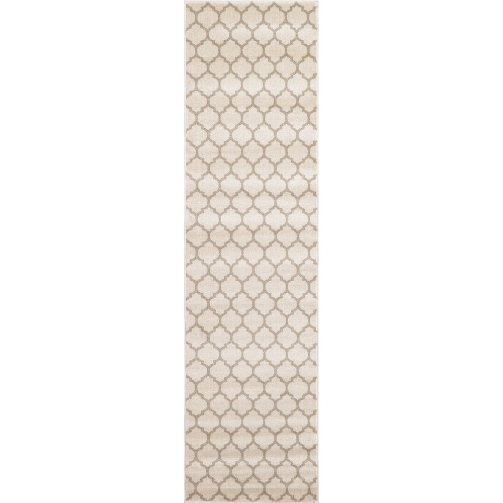 Unique Loom Trellis Philadelphia Beige/Light Brown 2' 7 x 10' 0 Runner Rug