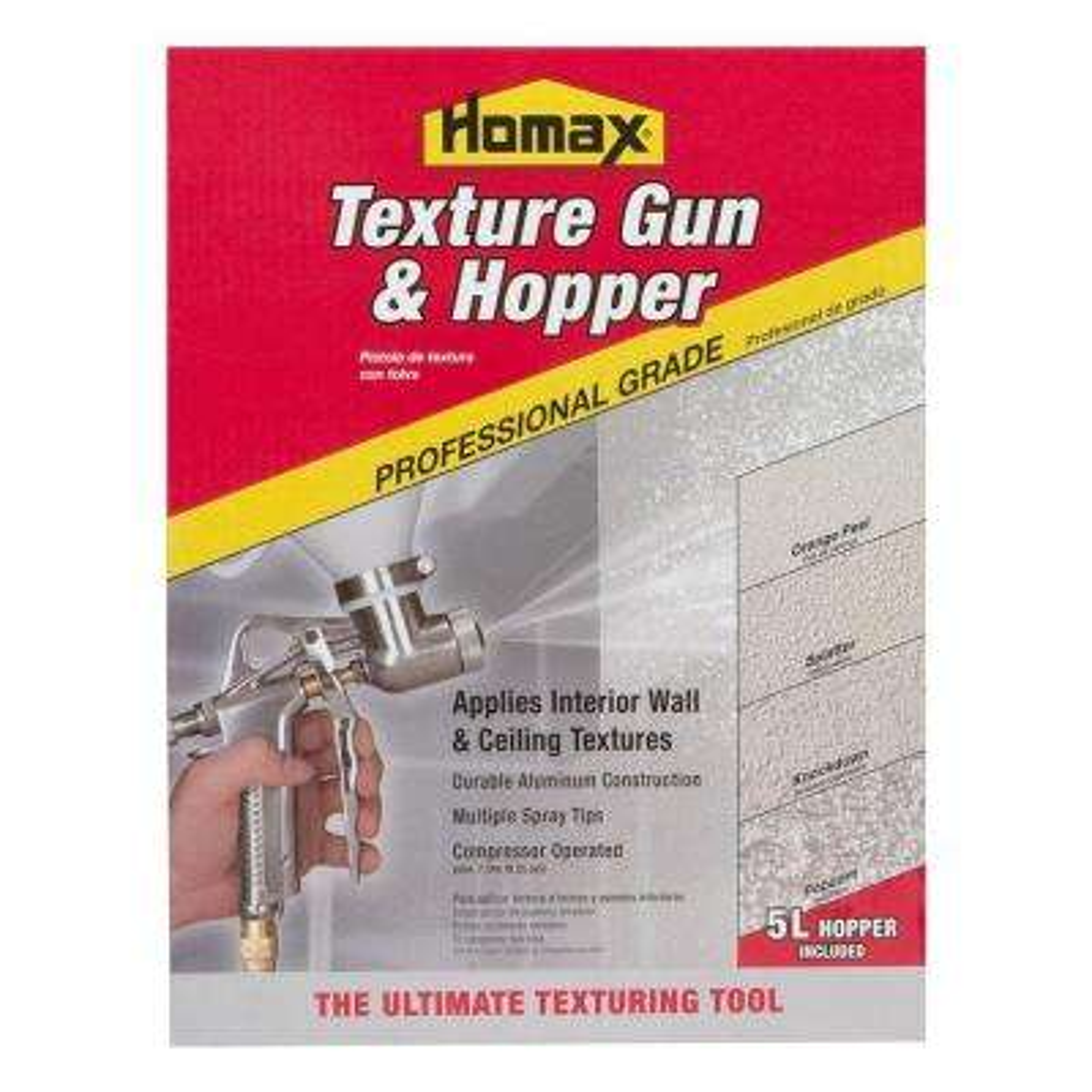 Pro Gun and Hopper for Spray Texture Repair