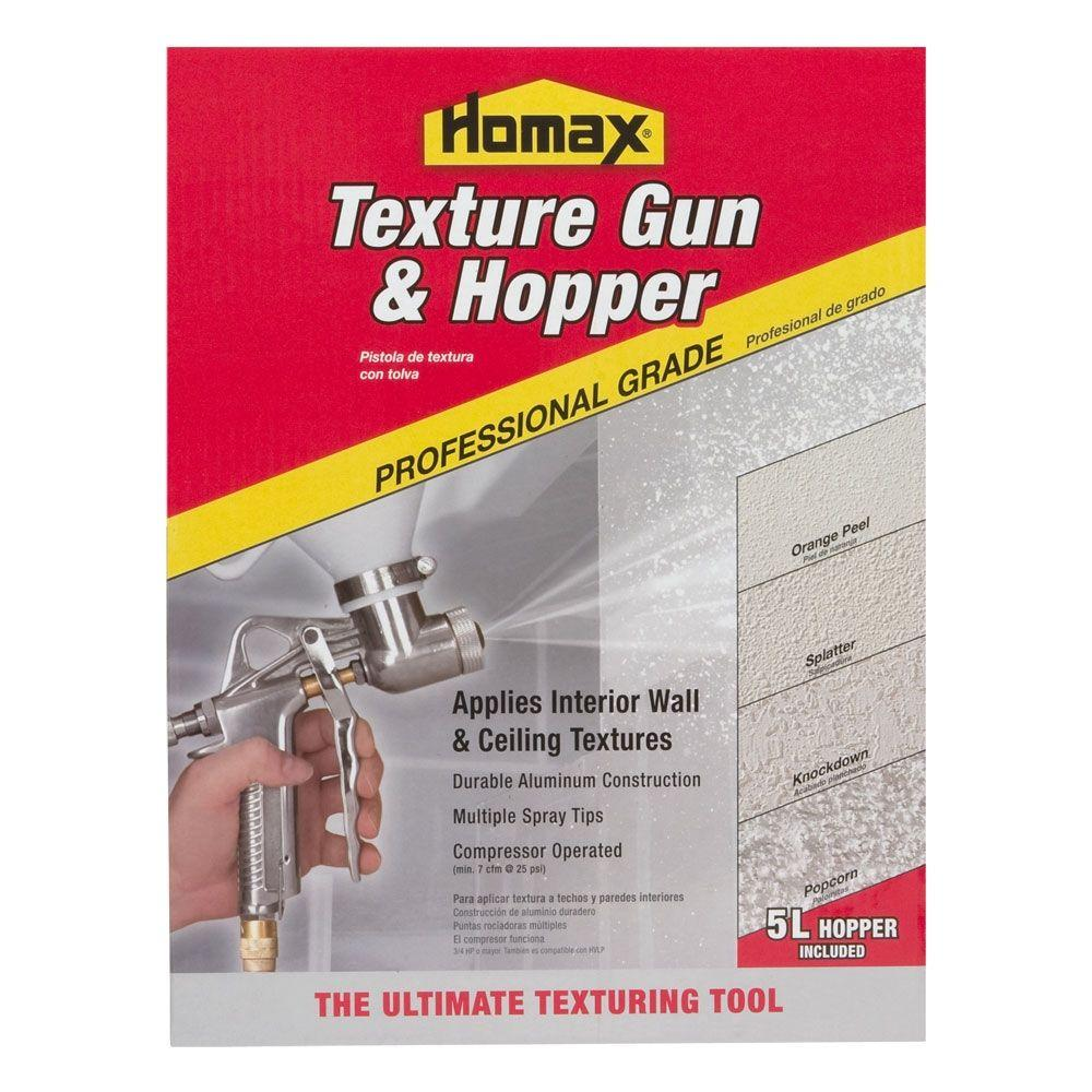 Homax Pro Gun And Hopper For Spray Texture Repair 4670 The Home Depot