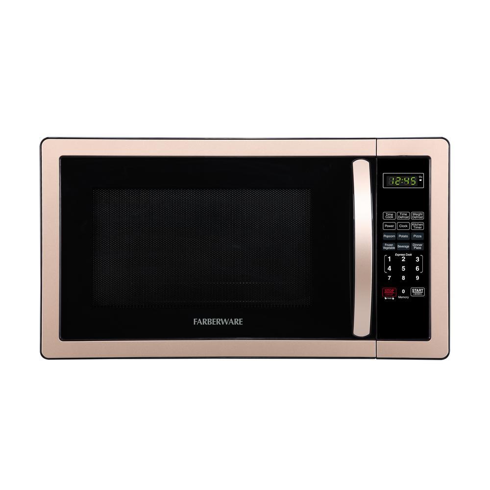 Classic 1.1 cu. ft. 1000-Watt Countertop Microwave Oven in Copper