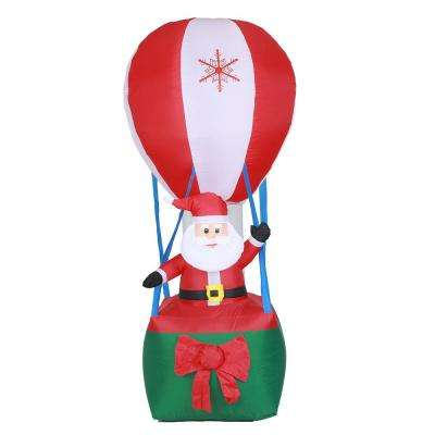 9 ft. Santa in Hot Air Balloon Inflatable with LED Lights