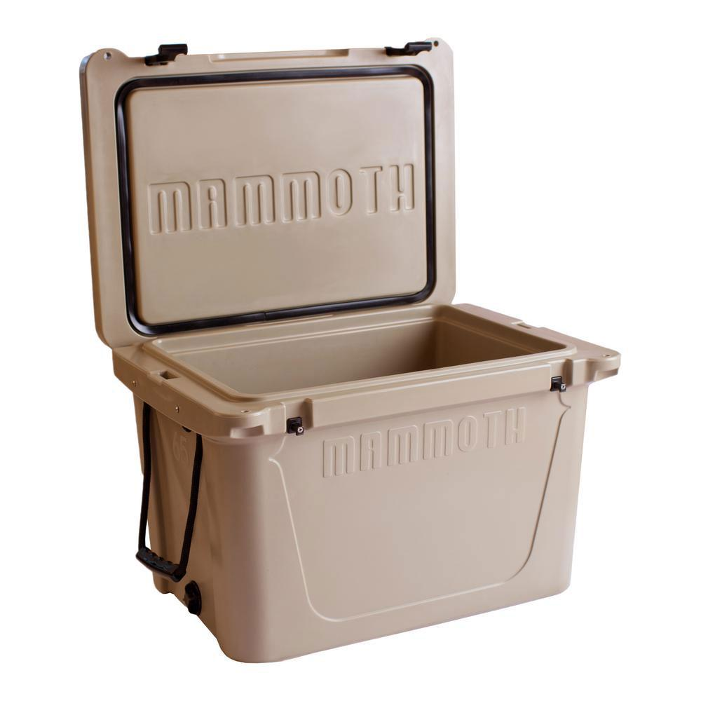 Mammoth Ranger Series 65 Qt Chest Cooler In Tan Mr65t The Home Depot