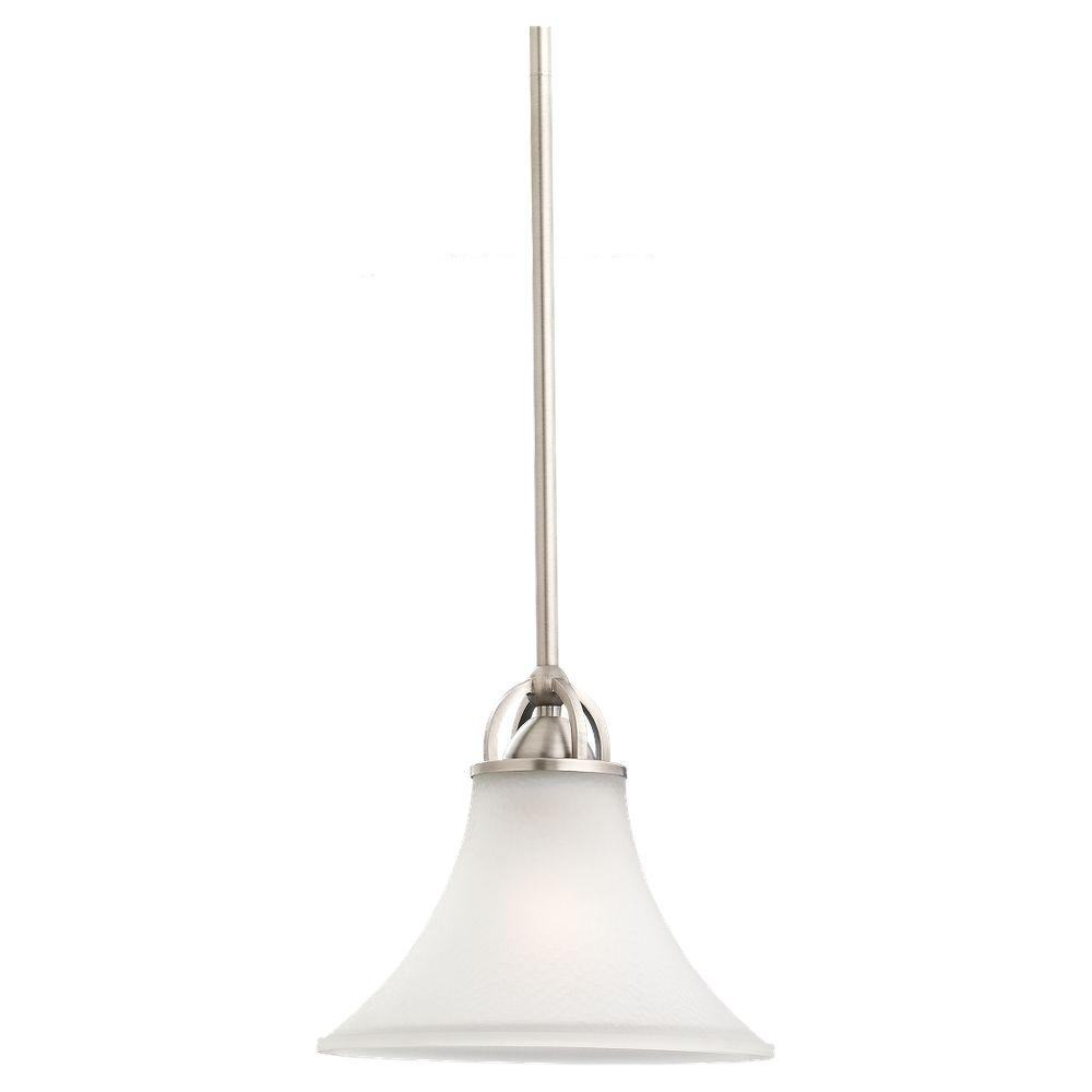 Sea Gull Lighting Somerton 1 Light Antique Brushed Nickel Mini Pendant