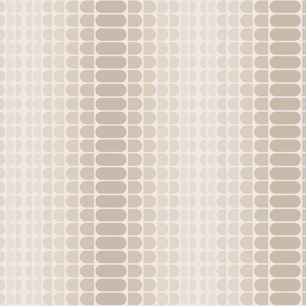 Novogratz Geometric Gradient Greige Self-Adhesive Removable Wallpaper