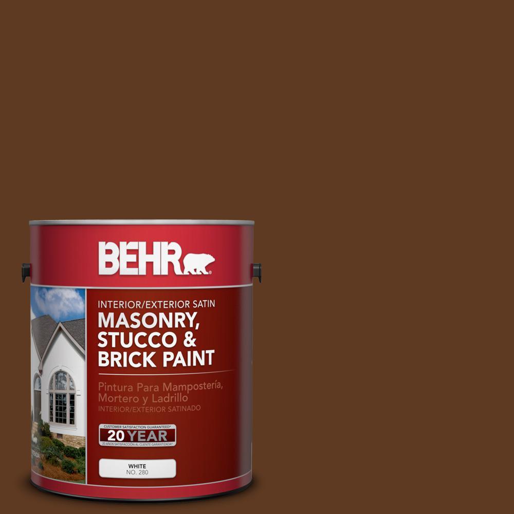 1 gal. #SC-129 Chocolate Satin Interior/Exterior Masonry, Stucco and Brick Paint