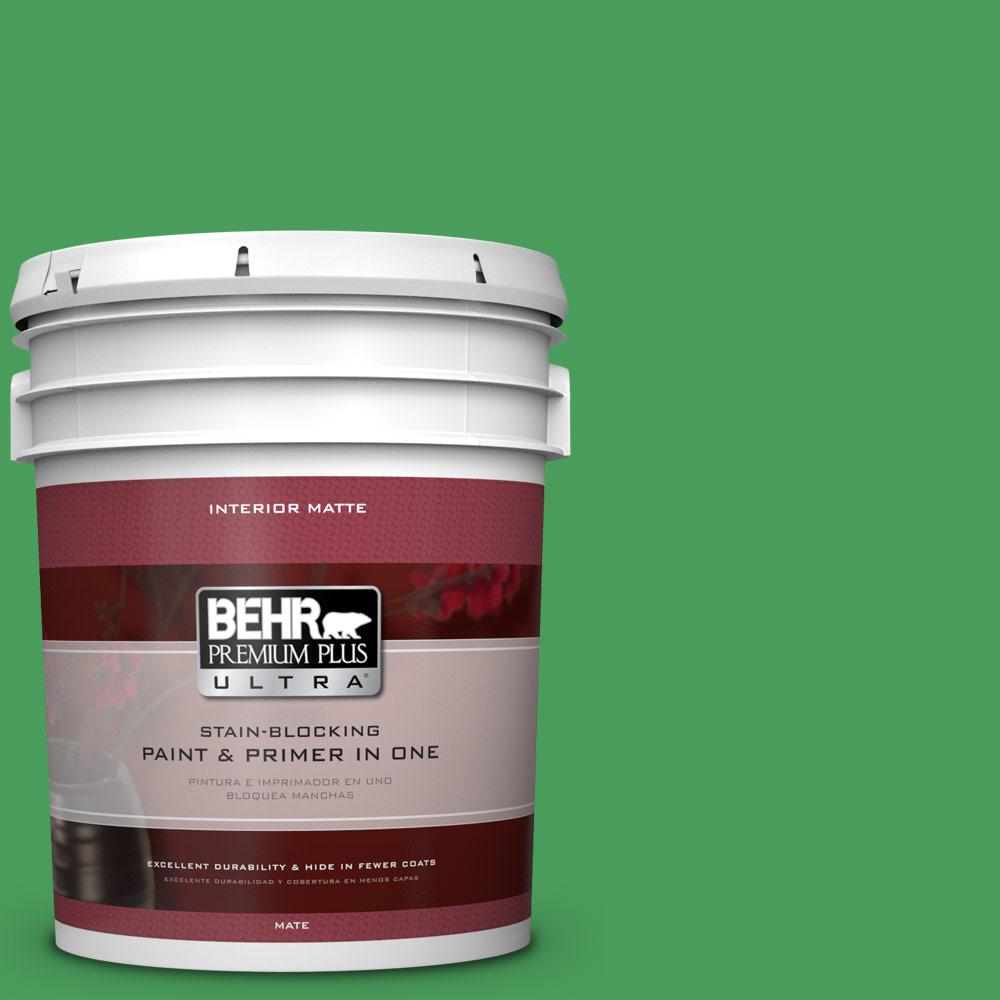 BEHR Premium Plus Ultra 5 gal. #P400-6 Clover Patch Matte Interior Paint