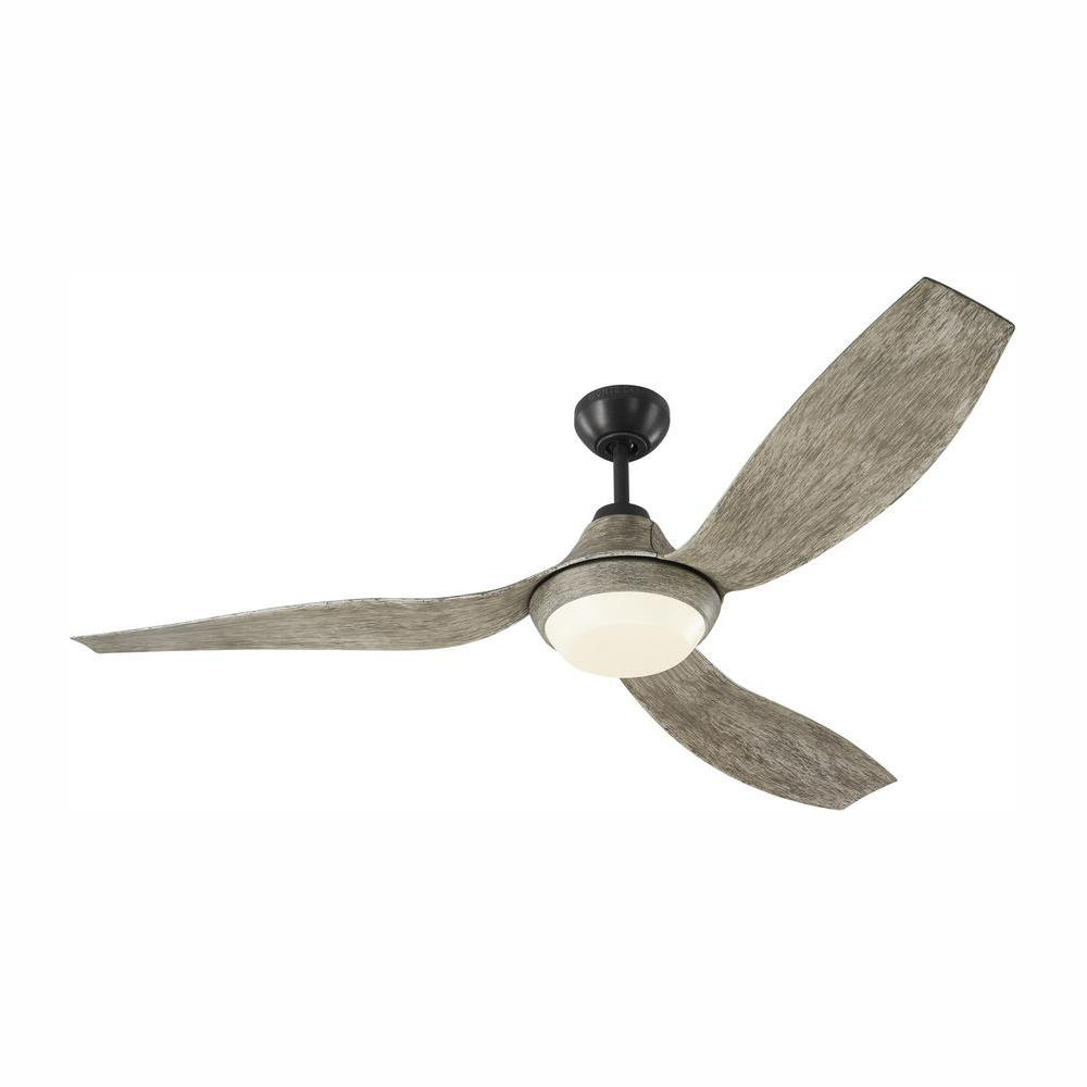 Monte Carlo Avvo 56 in. LED Indoor/Outdoor Aged Pewter Ceiling Fan