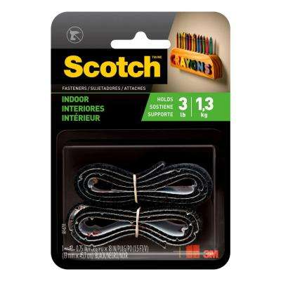 Scotch 3/4 in. x 18 in. Black Indoor Fasteners (1 Set-Pack)