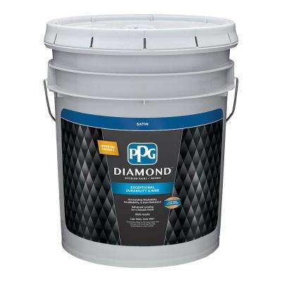 5 gal. Pure White Satin Interior Paint and Primer