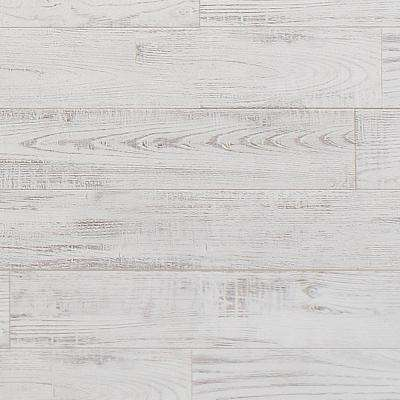 Sculpted Ivory 8 mm Thick x 11.5 in. Wide x 46.56 in. Length Click Lock Laminate Flooring (22.53 sq. ft. / case)