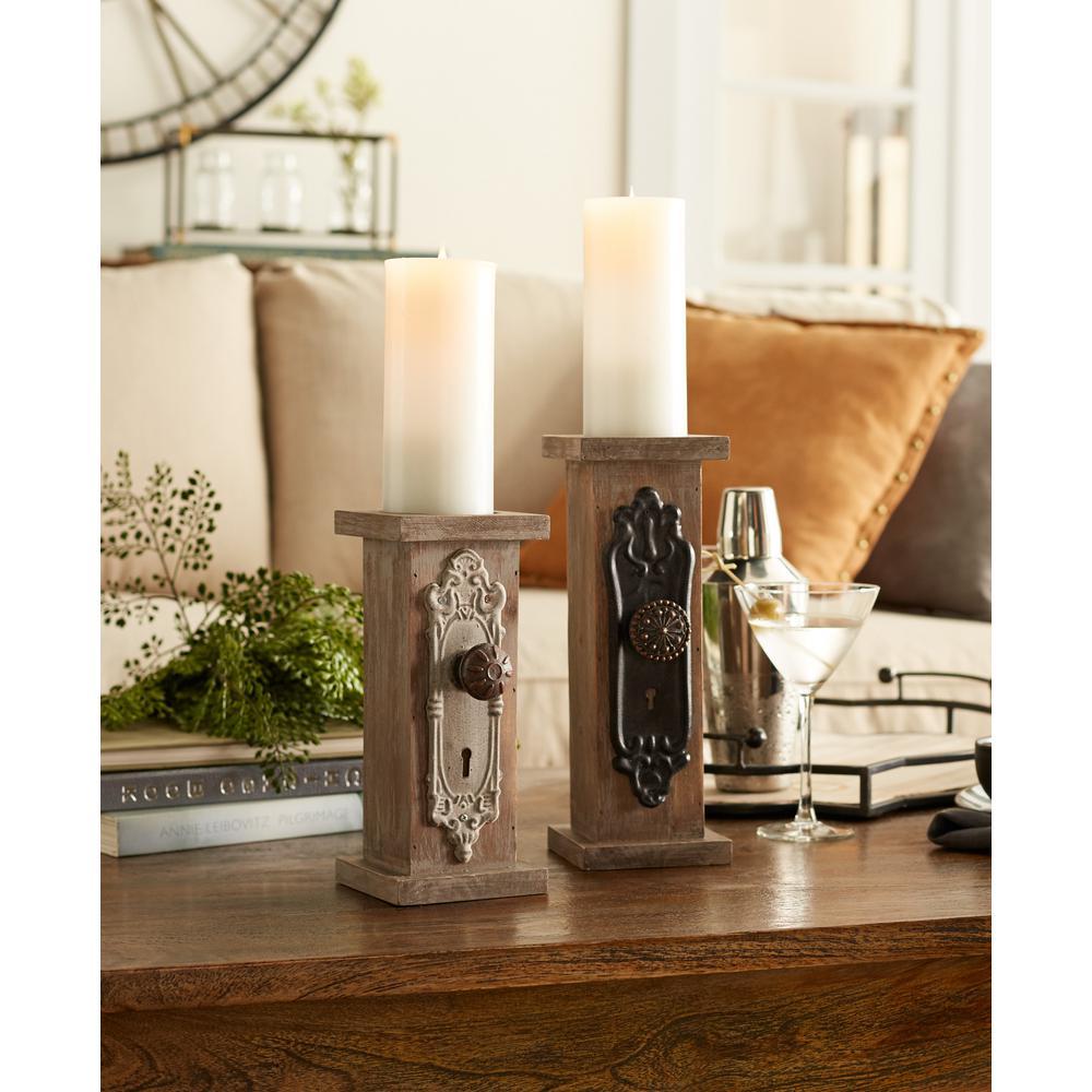 Door Knob Candleholders (Set of 2)