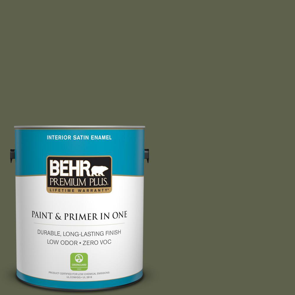 1 gal. #400F-7 Groundcover Satin Enamel Zero VOC Interior Paint and