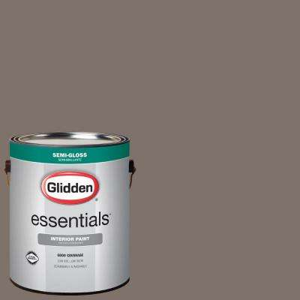 1 gal. #HDGWN26U Fauna Brown Semi-Gloss Interior Paint