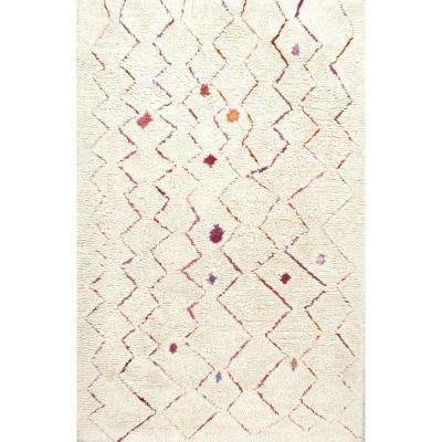 Moroccan Joellen Natural 4 ft. x 6 ft. Area Rug