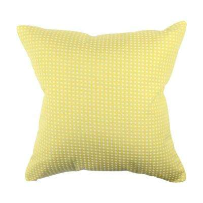 Pastel Yellow Polka Dot Jacquard Throw Pillow