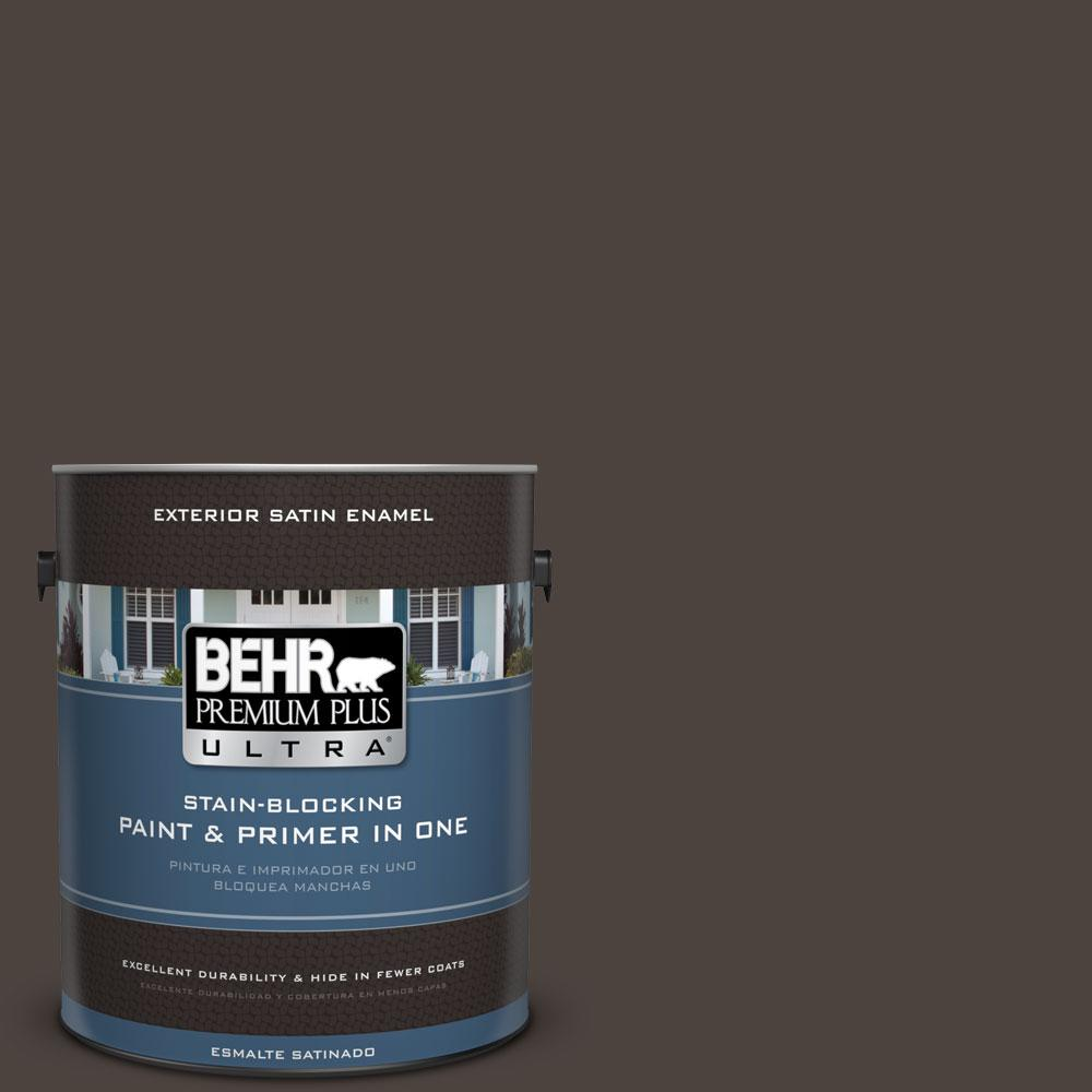 BEHR Premium Plus Ultra 1-gal. #ECC-41-2 Willow Wood Satin Enamel Exterior Paint