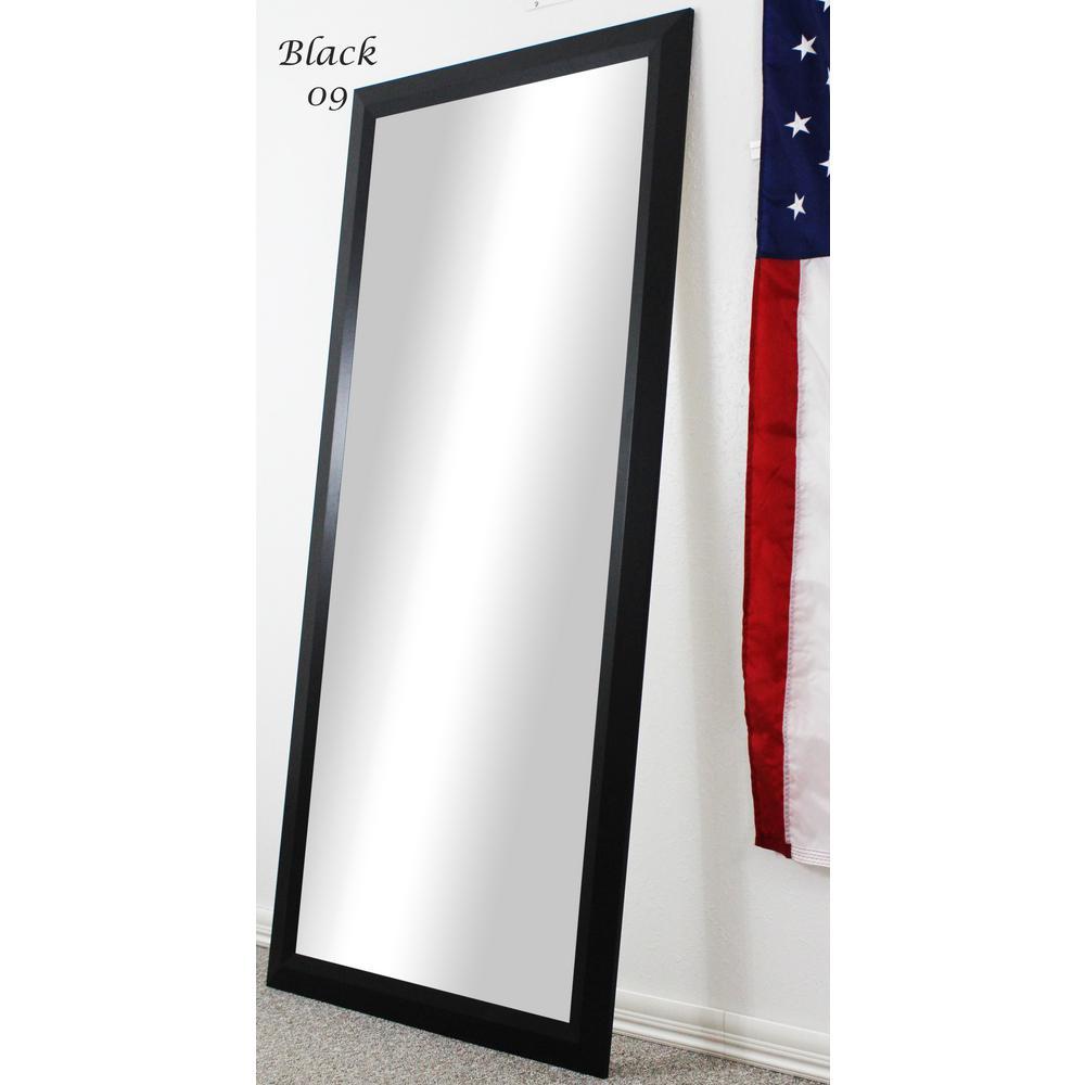 63 5 In X 25 5 In Black Full Body Floor Length Vanity Mirror Vv009 20 58 The Home Depot