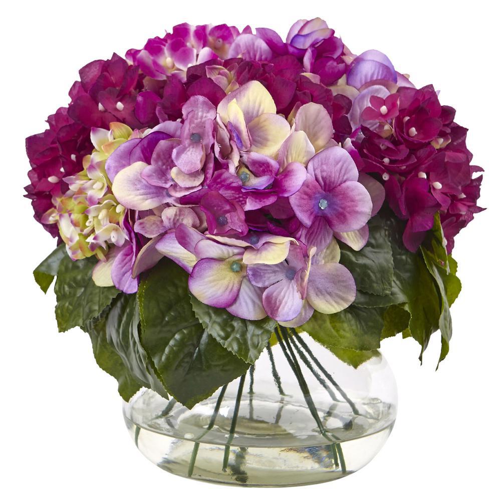 Multi-Tone Hydrangea with Vase