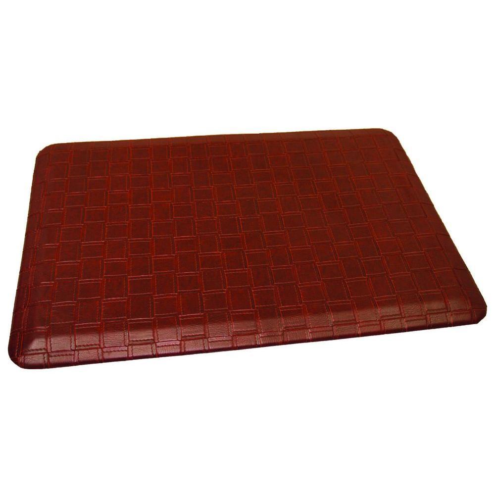Comfort Craft Catmandoo Ochre 24 in. x 48 in. Poly-Urethane Anti-Fatigue Kitchen Mat, Medium Brown