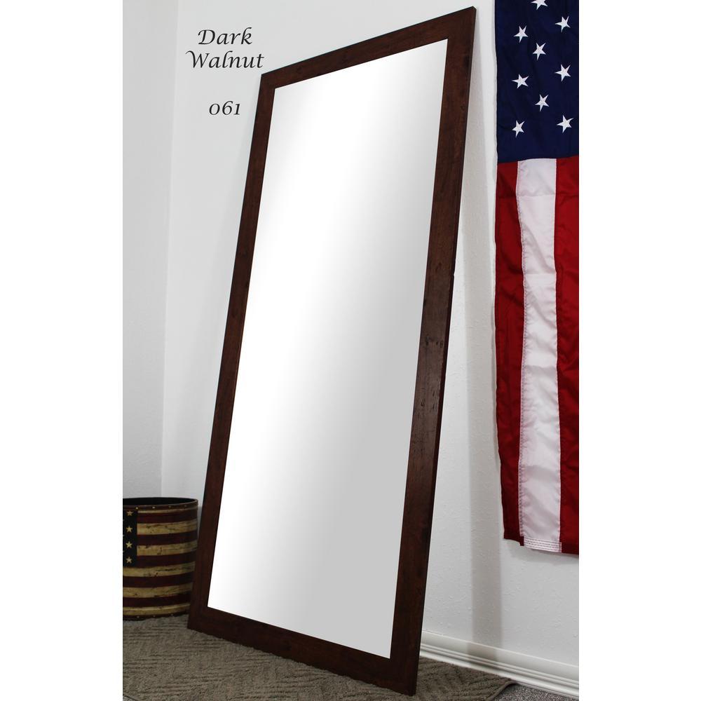 65.5 in. x 30.5 in. Dark Walnut Full Body and Floor Length Vanity Mirror