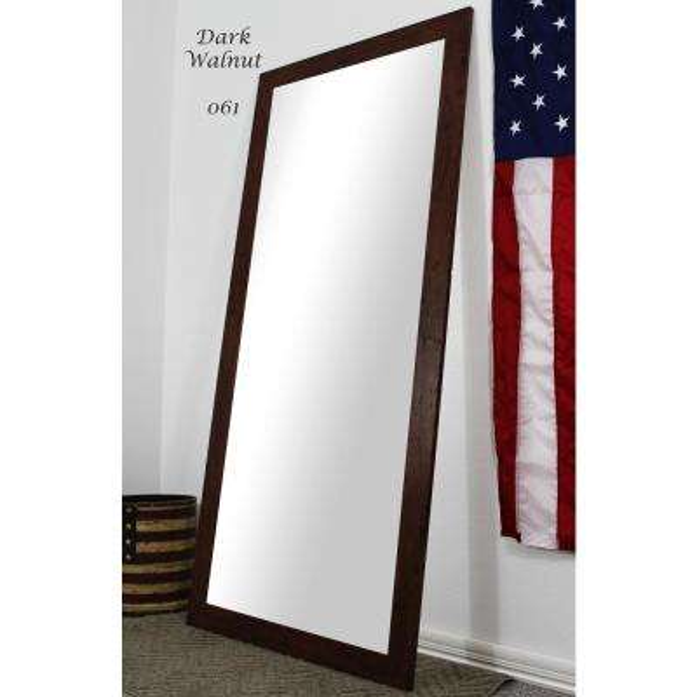 70.5 in. x 31.5 in. Dark Walnut Full Body and Floor Length Vanity Mirror
