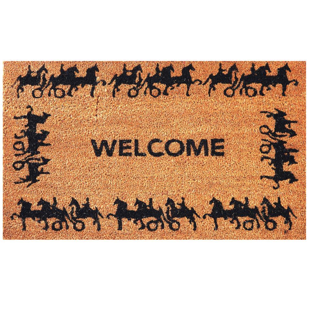 Envelor Horse and Carriage 30 in. x 18 in. Coir Door Mat