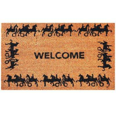 Horse and Carriage 30 in. x 18 in. Coir Door Mat