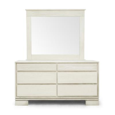Vienna 6-Drawer Off-White Dresser