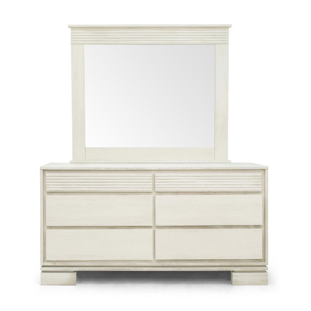 Vienna 6-Drawer Off-White Dresser