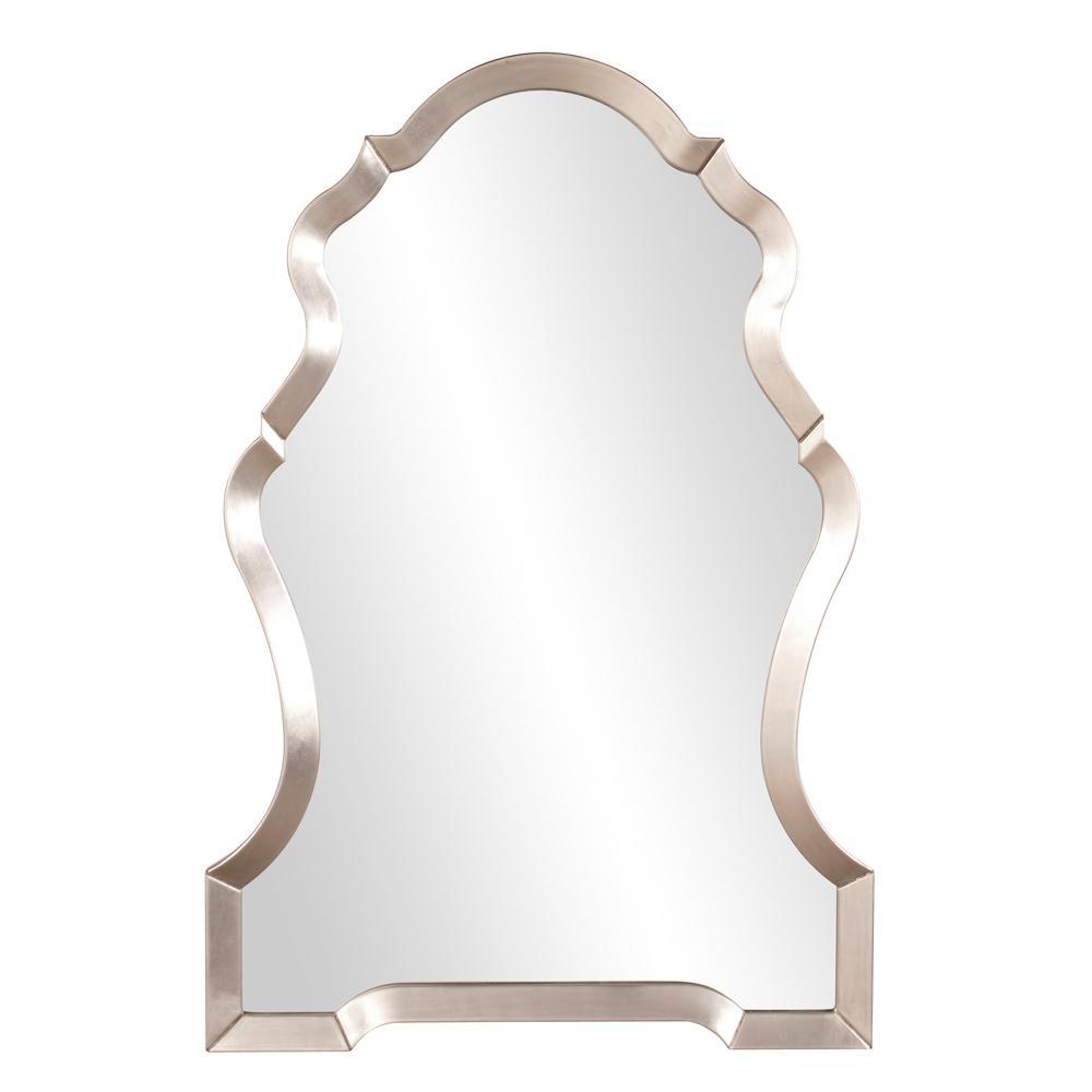Nadia Bright Silver Mirror Wall Decal