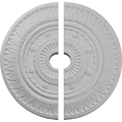 26-3/4 in. x 3-5/8 in. x 1-1/8 in. Leaf Urethane Ceiling Medallion, 2-Piece (Fits Canopies up to 3-5/8 in.)