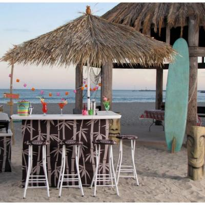Tiki 6-Piece All-Weather Patio Bar Set with 6 ft. Umbrella and Stool Set