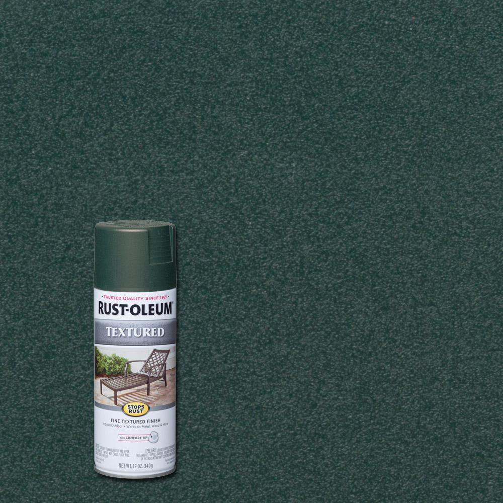 Rust-Oleum Stops Rust 12 oz. Textured Forest Green Protective Spray Paint (6-Pack)