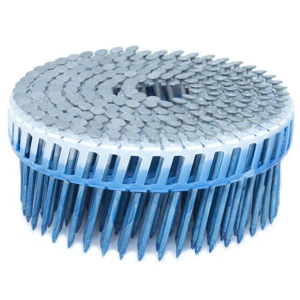 FASCO 2 in. x 0.092 in. 15-Degree Smooth Hot Dip Plastic Sheet Coil Siding Nail 800 per Box