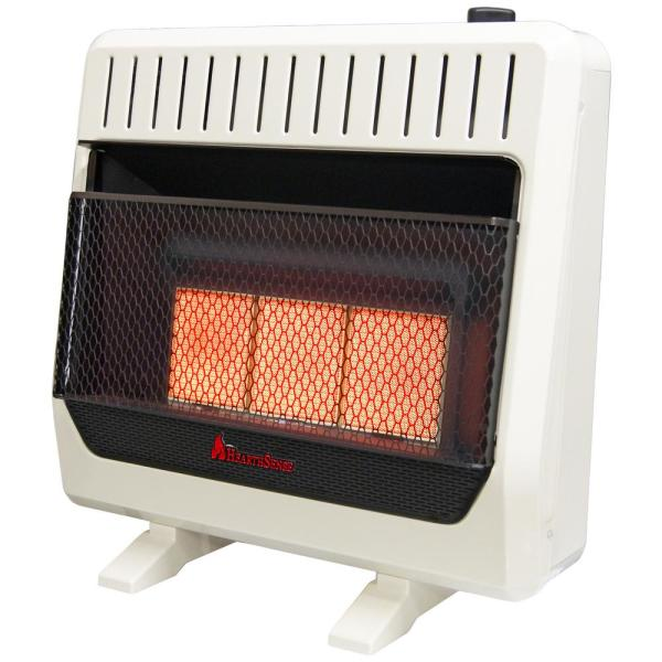 Procom Heating 30000 Btu Ventless Dual Fuel Radiant Heater With Thermostat Control 110109 The Home Depot