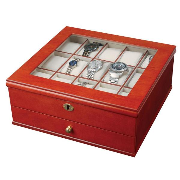 Mele & Co Chris Walnut Finish Wooden Watch Box 0067711