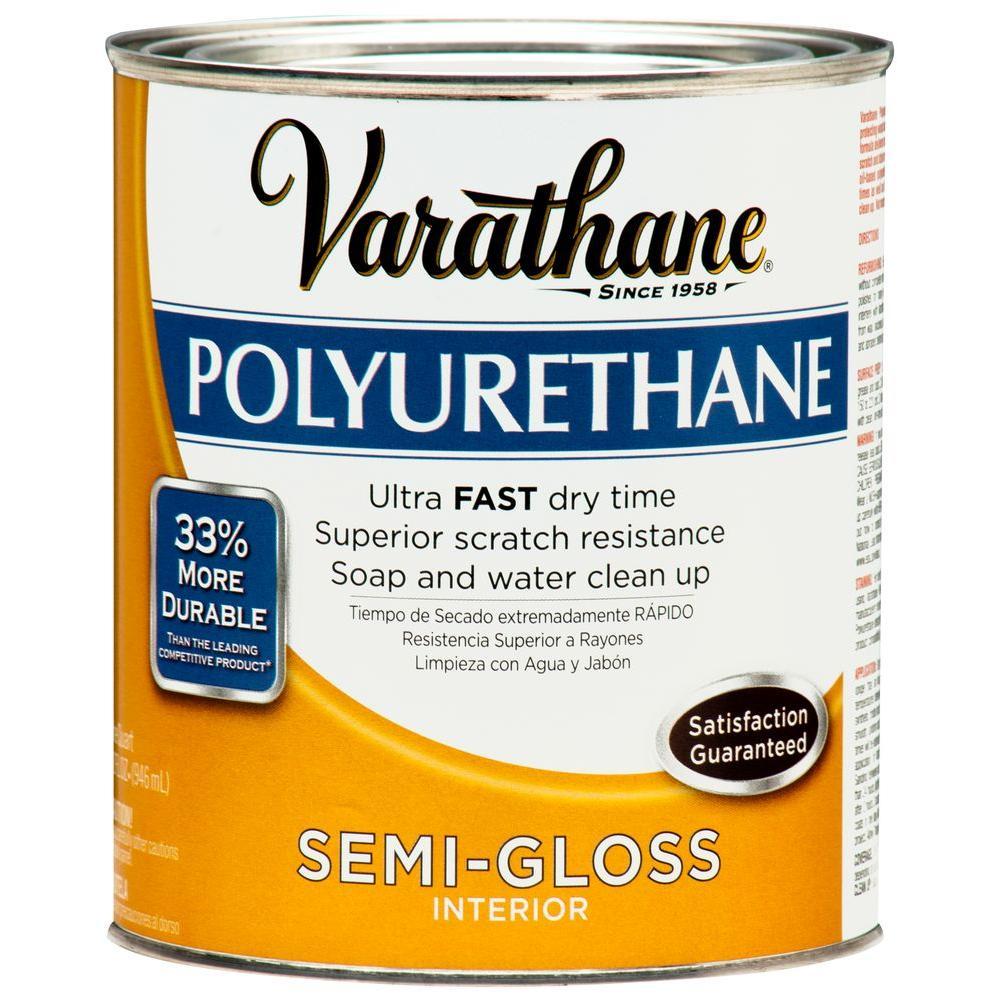1 qt. Amber Semi-Gloss Interior Polyurethane (2-Pack)