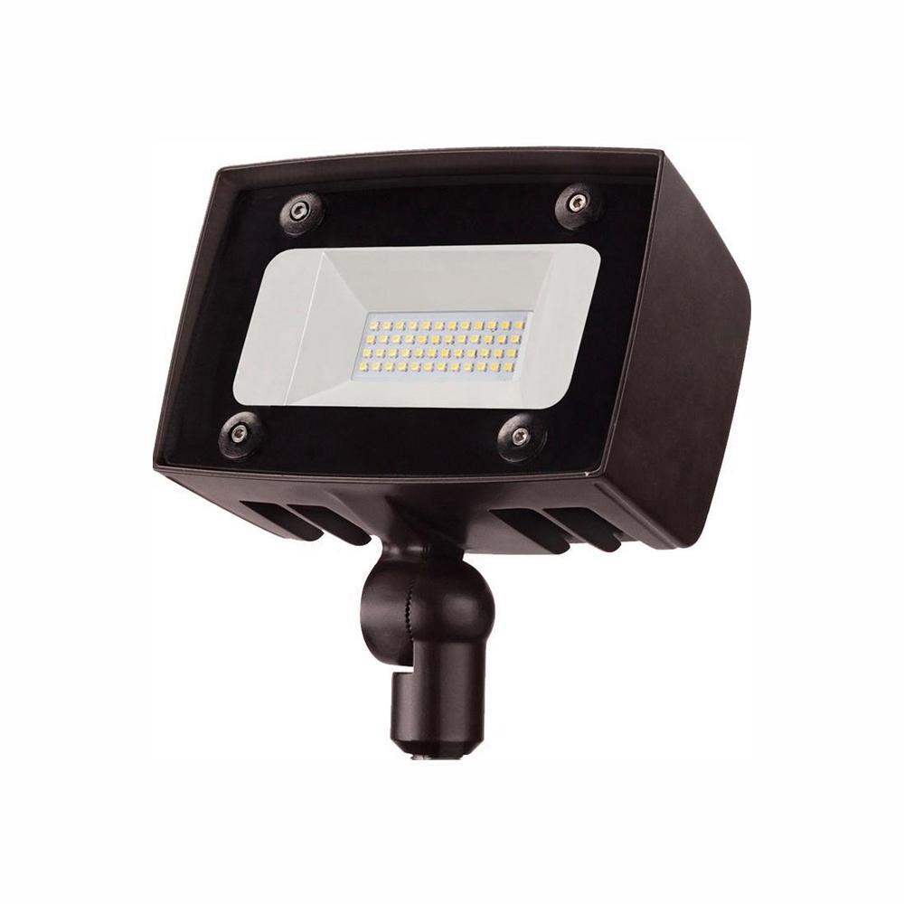 Architectural 150-Watt Equivalent Integrated Outdoor LED Flood Light, 2000 Lumens, Security Light