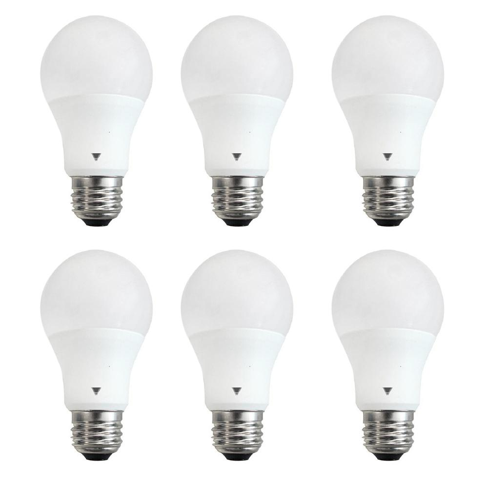 superior quality 0f65a fd5d6 TriGlow 60-Watt Equivalent A19 800-Lumen E26 Base LED Light Bulb Soft White  (6-Pack)