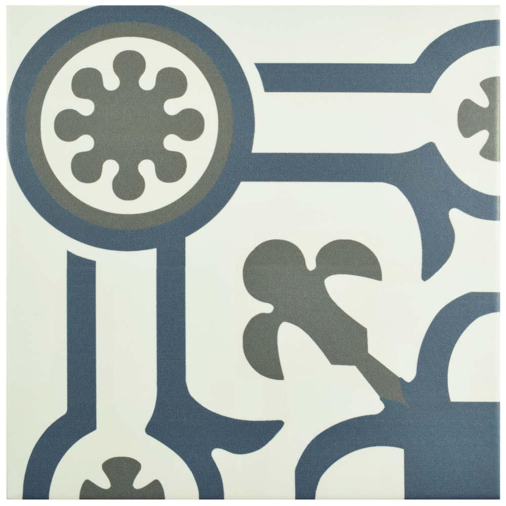 Hidraulico Ducados Angulo 9-3/4 in. x 9-3/4 in. Porcelain Floor and