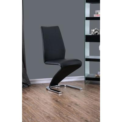 Mackley Black Z-Shaped Side Chairs (Set of 2)