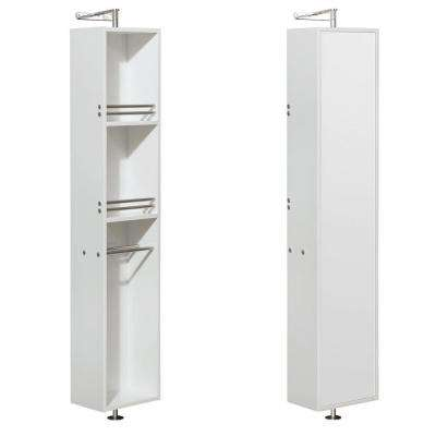 Amare 13-7/8 in. W x 73 in. H x 15 in. D Bathroom Linen Storage Cabinet in Glossy White