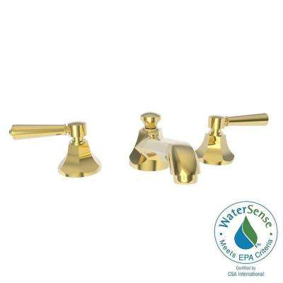 Metropole 8 in. Widespread 2-Handle Bathroom Faucet in Forever Brass