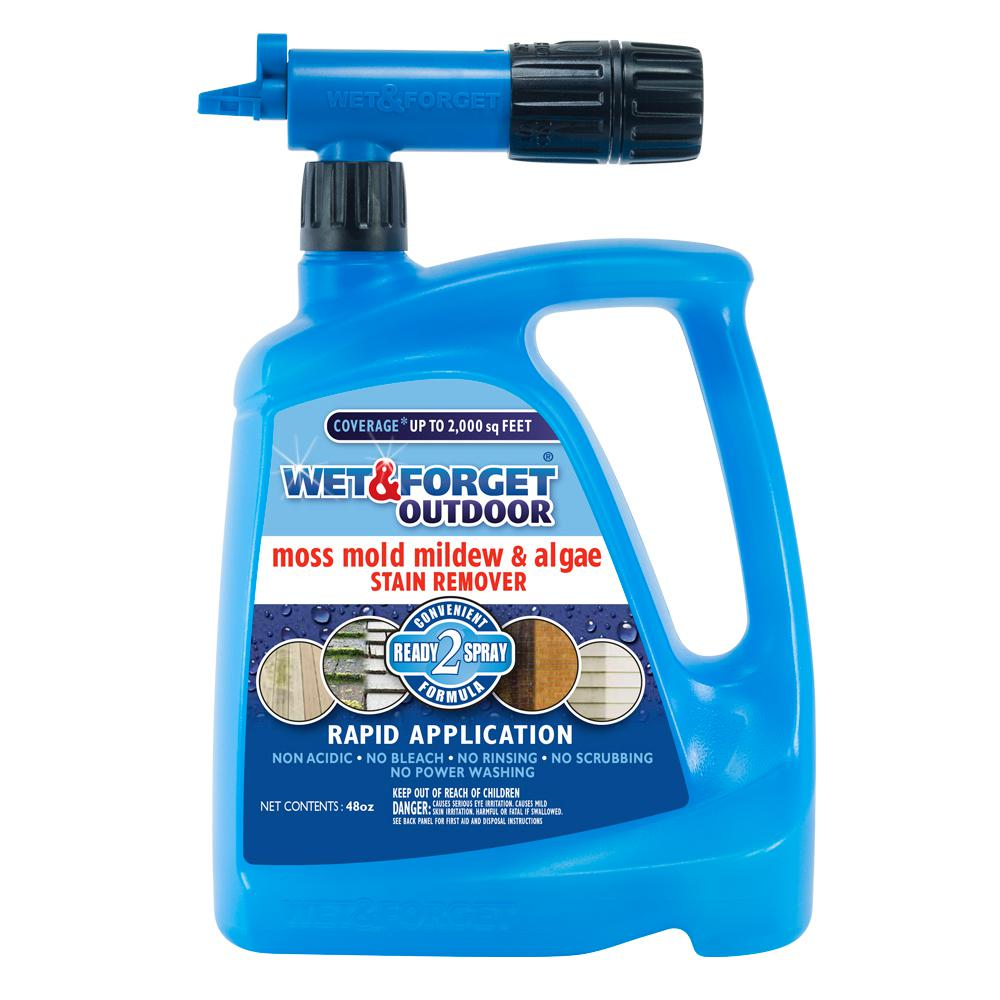 Wet and Forget 48 Oz. Outdoor Moss Mold Mildew and Algae Stain Remover with Rapid Application Hose End