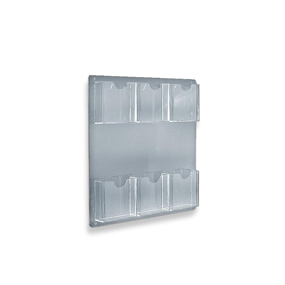 Acrylic Wall Mount Brochure Holder (6-Pocket)