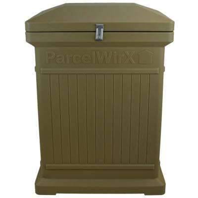 ParceWirx Premium Vertical Architectural Oak Delivery Drop Box Hinged Lid with Swinging Latch for Locking